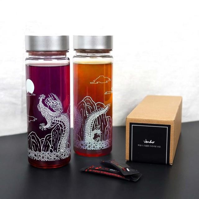Korean Traditional Dragon / Crane Tritan Bottle