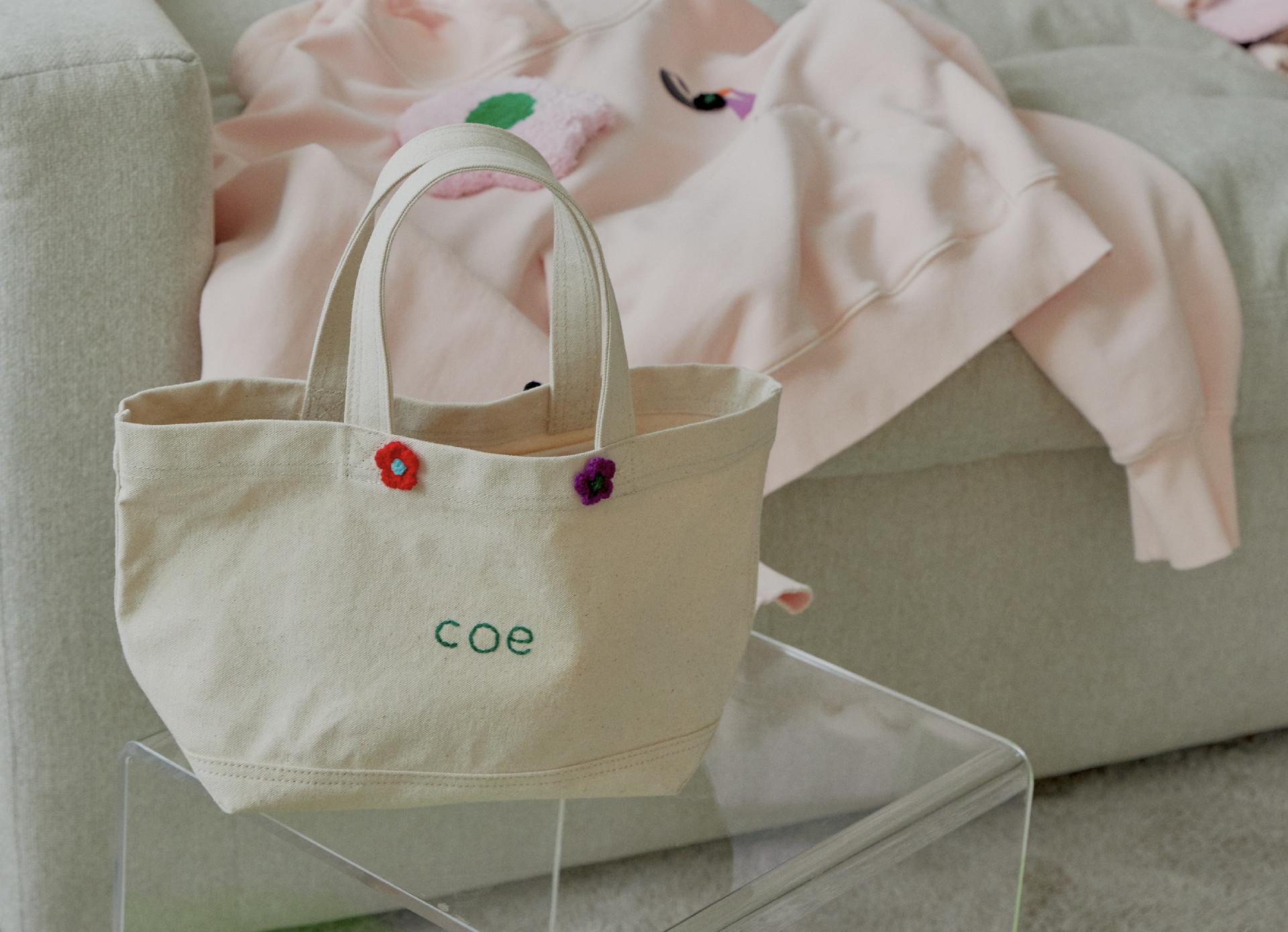 COE FLOWER CANVAS BAG
