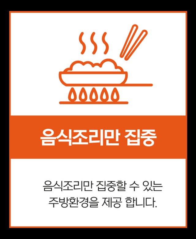 공유주방 오키로키친은 점주님들이 음식조리만 집중 할 수 있는 주방 환경을 제공하기위해 더욱 노력하고 있습니다.