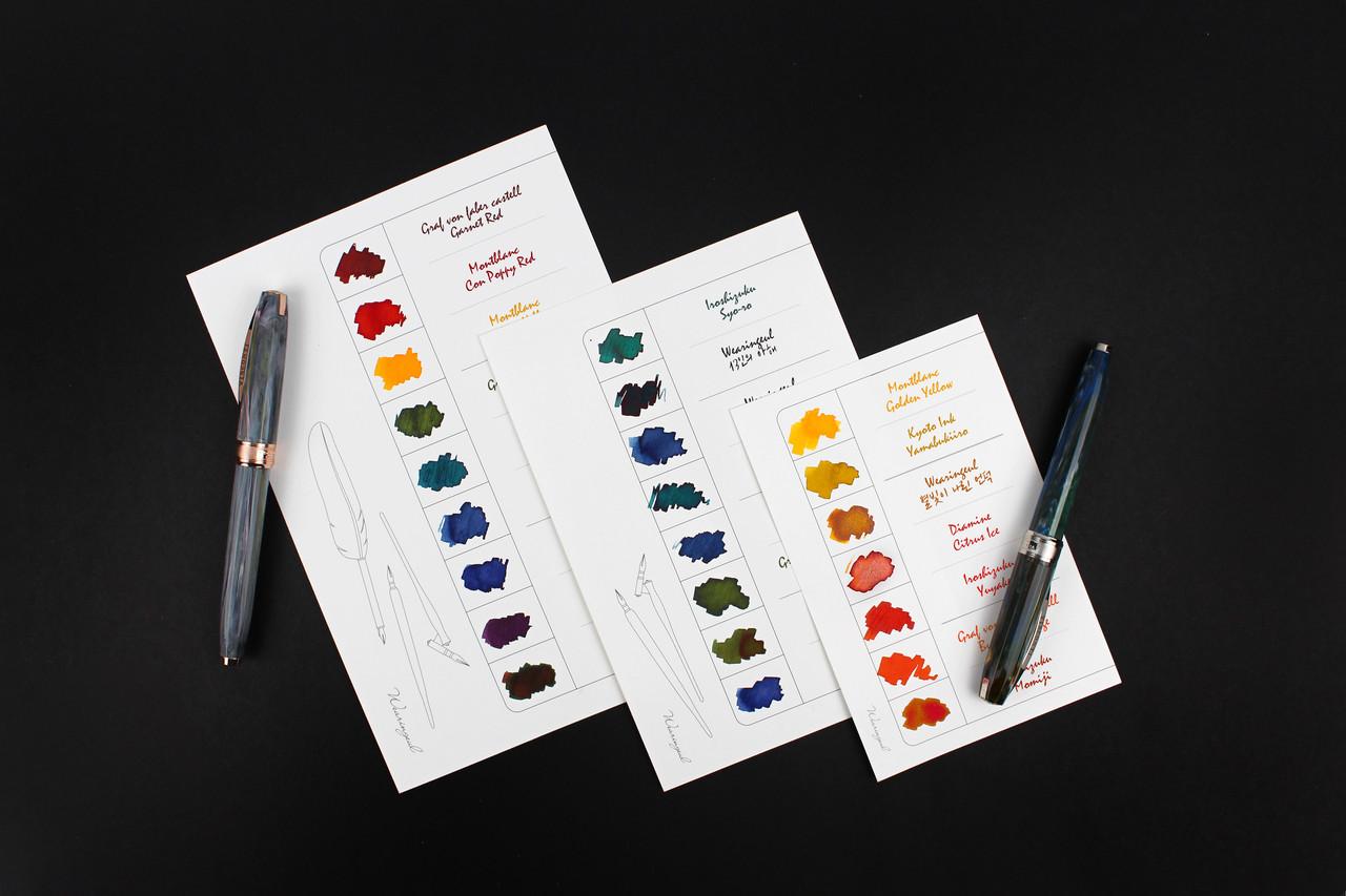 Ink Palette Color Chart