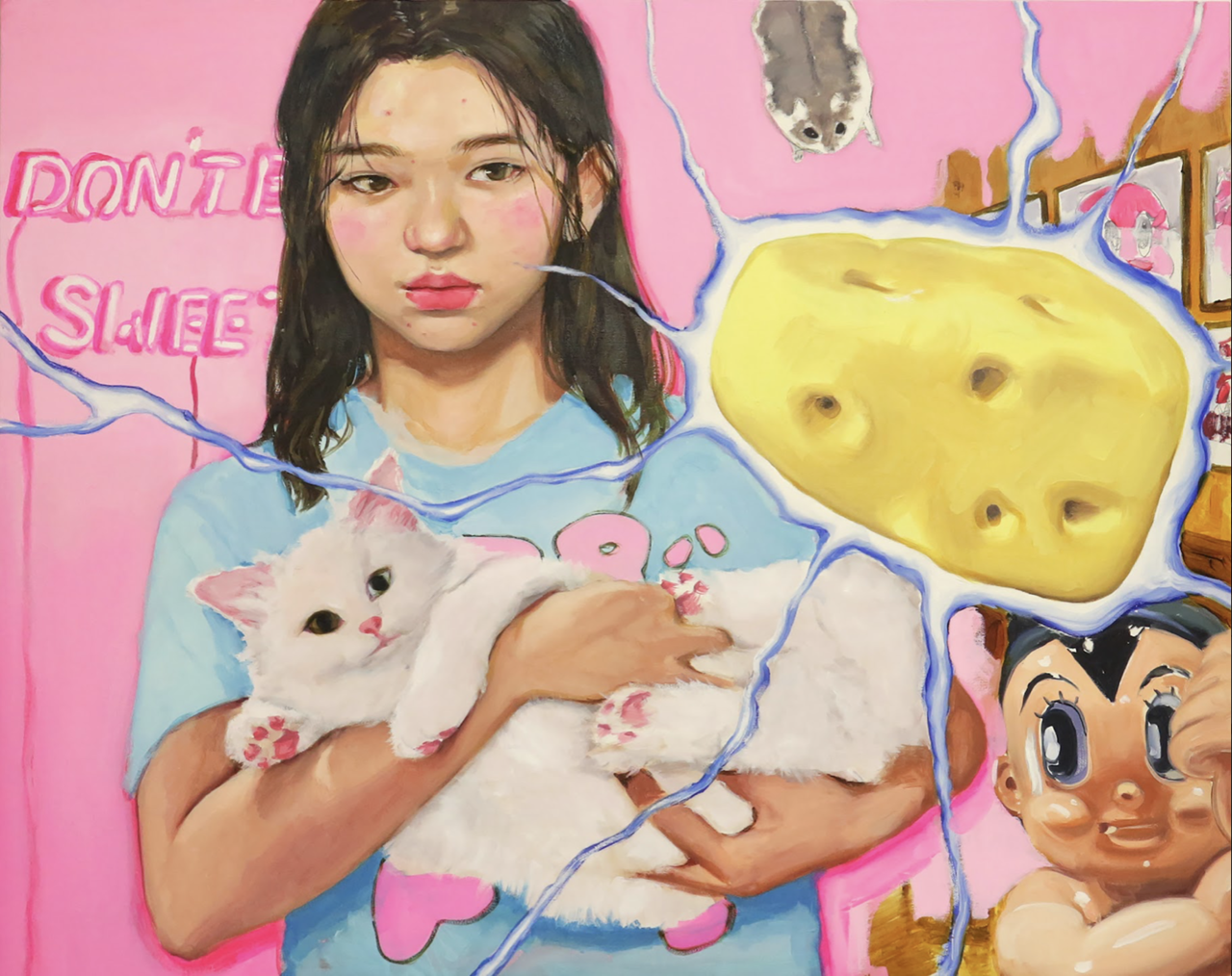 Cheee-, 2020, oil on canvas, 72.7 x 90.9 (cm)