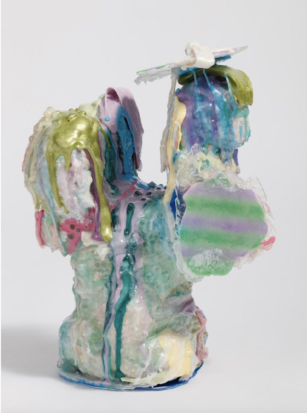 fortune teller, 33 x 21 x 42 cm, mixed media, Urethane resin, 2021