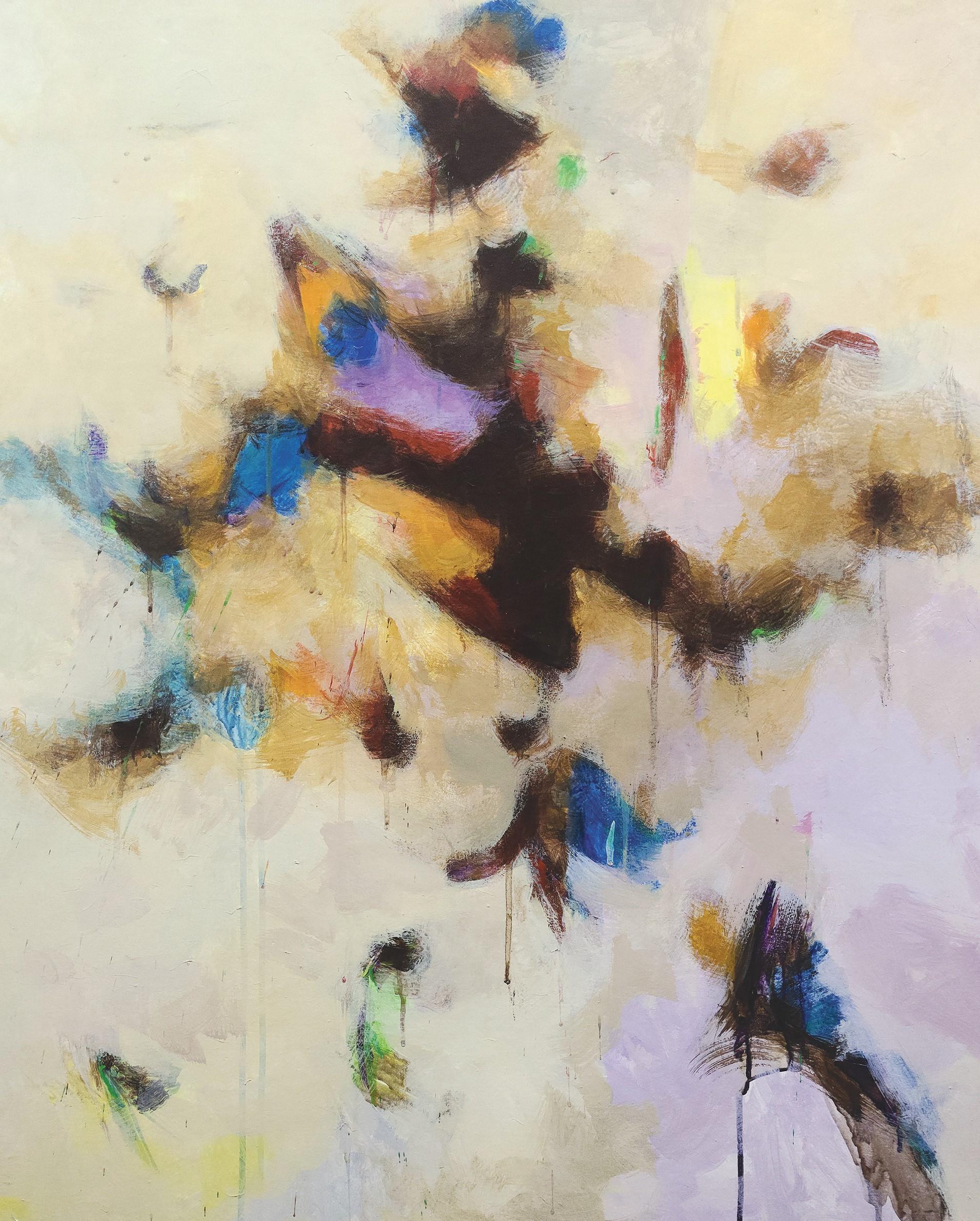 심상心象), Oil on paper and canvas, 112x84cm, 1989
