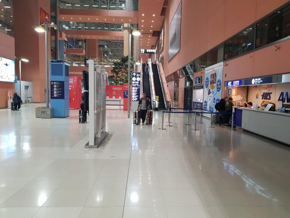 간사이공항 입국장