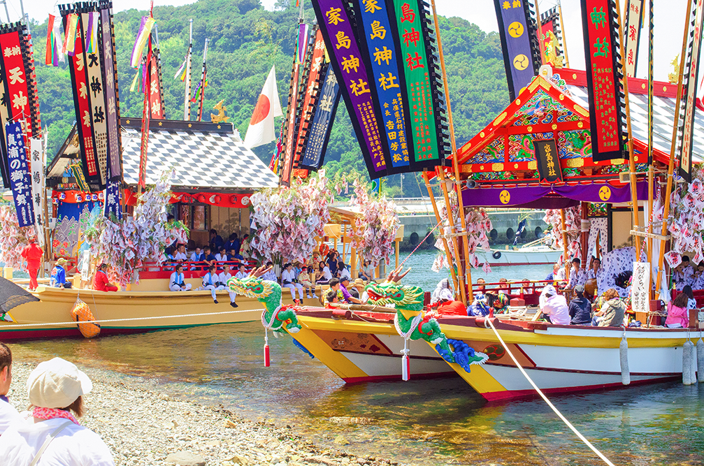 이에시마 덴진마쓰리 축제