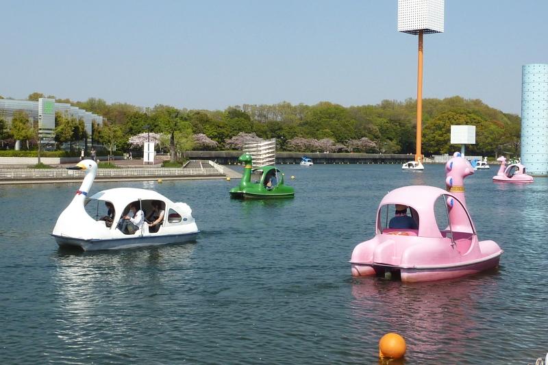 오사카 연못 보트