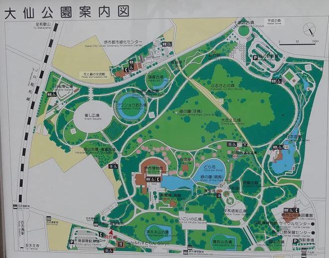 다이센 공원 지도