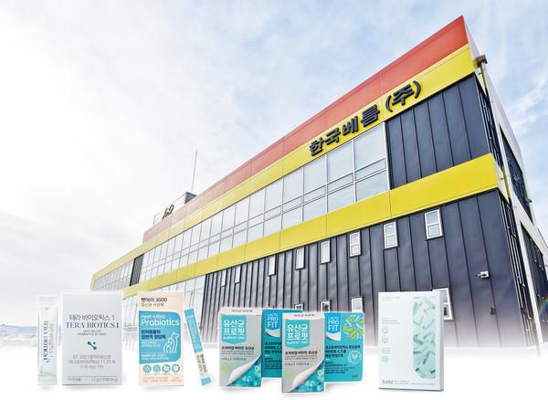 한국베름의 원주 본사 전경과 생산 제품 / 제공=한국베름