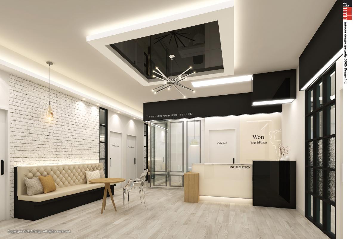 광교 요가학원 3D : (주)두루디자인 종합건설