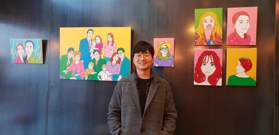 2018년 12월 크라우드 펀딩 와디즈에서 진행했던 '내가 사랑하는 얼굴' 전시회에서.