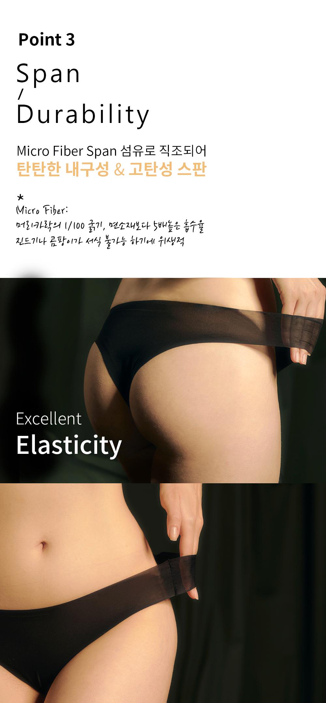 란제리한(LINGERIE HAN) 에그쉘 팬티 (블랙)