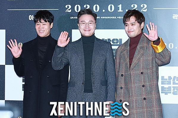 ▲ 진선규-서동원-박성근 '유쾌한 세 남자' (사진=문찬희 기자)