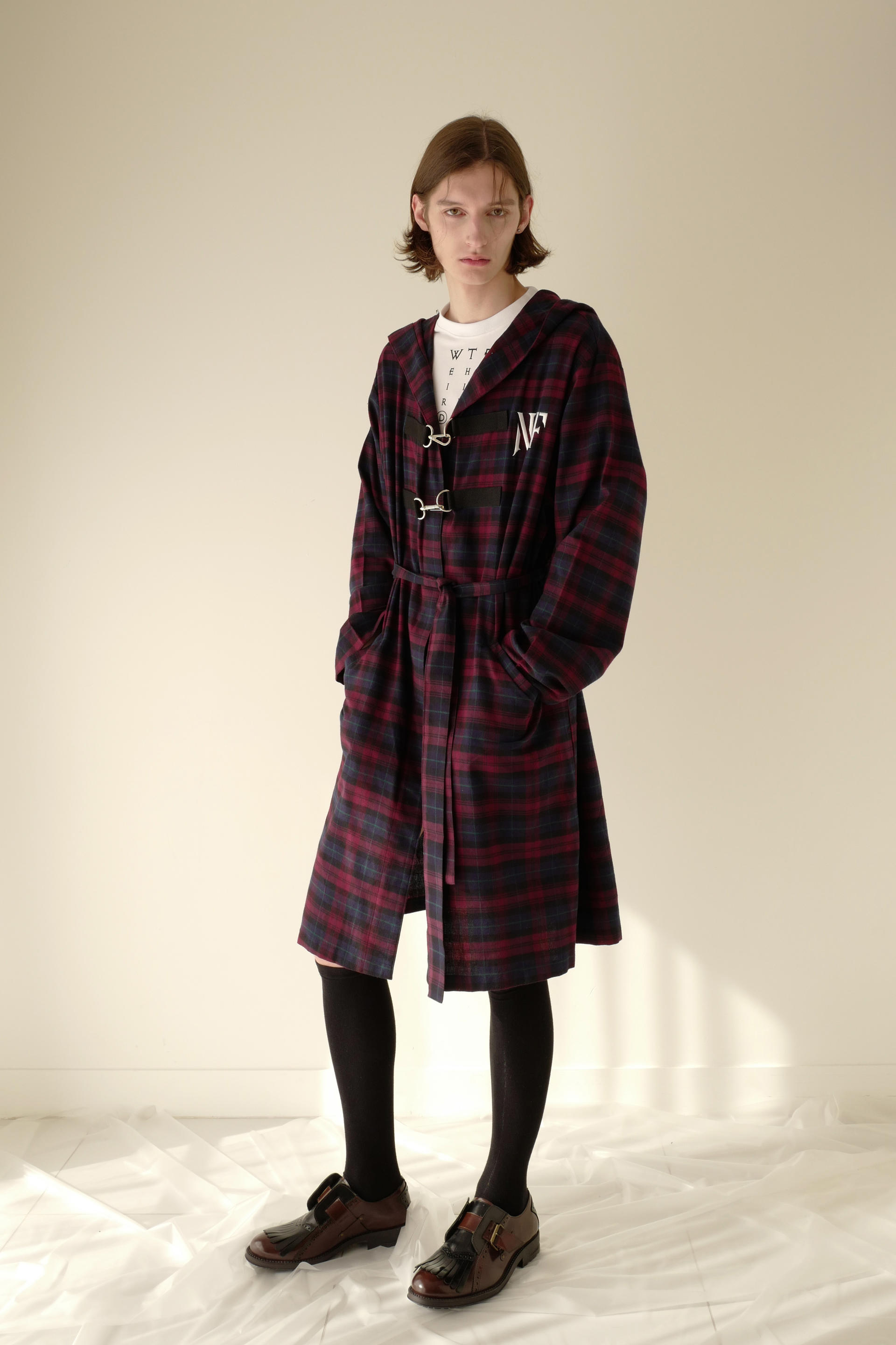 NIGHTFLOW Hooked Long Checked Shirt