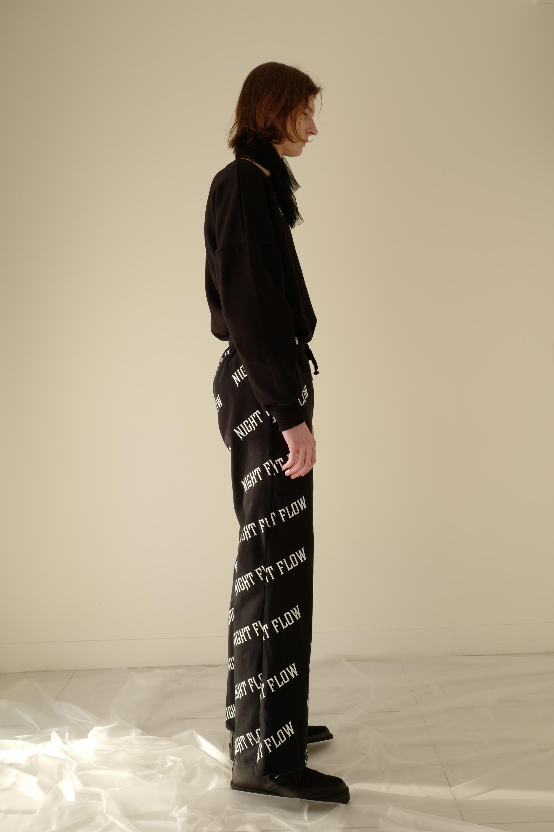 Night Flow Patterned Pants