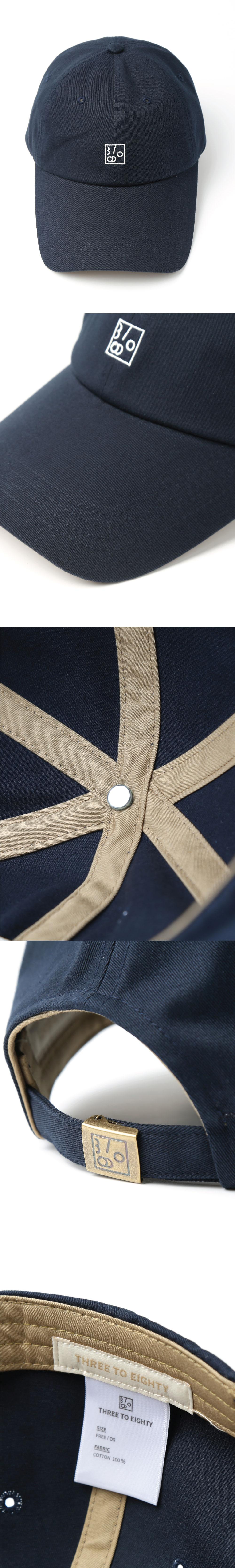 쓰리투에이티(THREE TO EIGHTY) Logo Ball Cap (Navy)