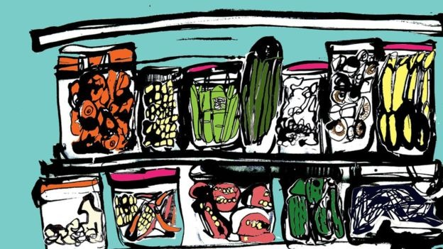 Jars of food