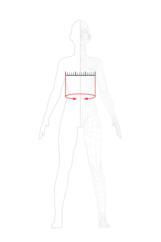 how to measure: chest