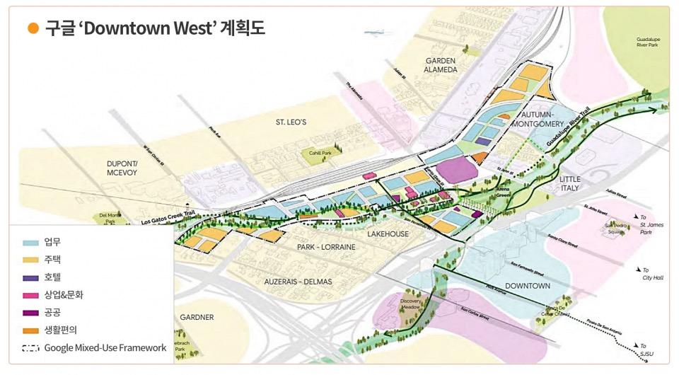/ 그래픽=이다인 지자이너, 출처=Google'Downtown West' Planⓒ시사저널e