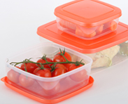 Biocera nano silver applied to plastic food containers