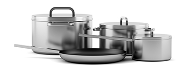 Biocera far-infrared agent solution applied to cooking-ware application.