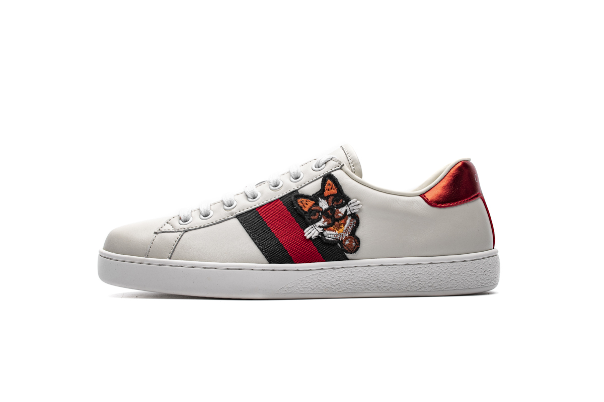 GUCCI DOG ACE EMBROIDERED SNEAKER