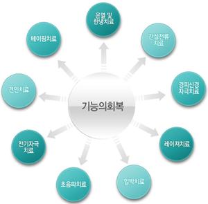 근력의 강화, 지구력과 심혈관 능력 증진, 운동성과 유연성, 안정성, 이완, 협응력, 균형능력,