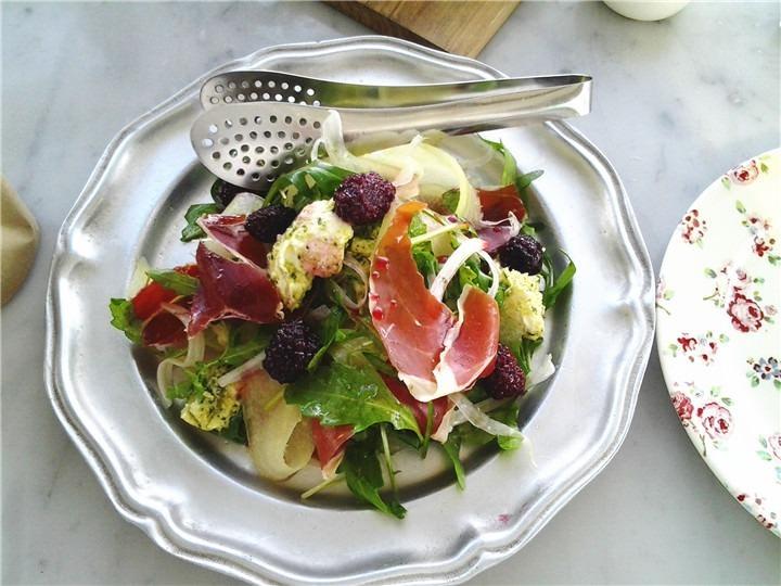 Jamon Melon Salad西班牙生火腿哈密瓜沙拉