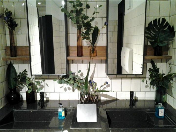 洗手间森林风有草有木   好清新感觉