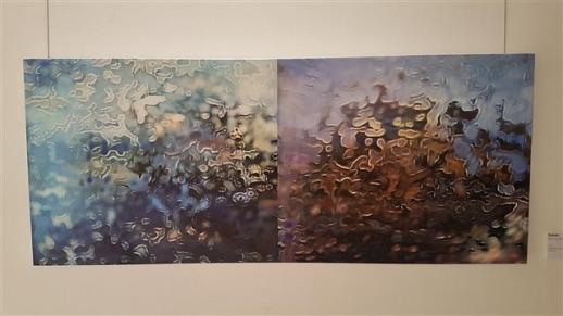 이메진AI가 2000여장의 사진을 학습해 그린 '독도'. 왼쪽은 여름, 오른쪽은 가을 풍경을 담았다.