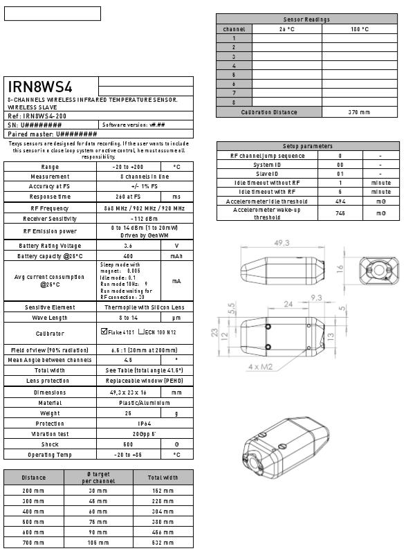 Texense wireless sensors 상세 정보 텔레메트리 방식 무선 스트레인, 온도 측정 장비