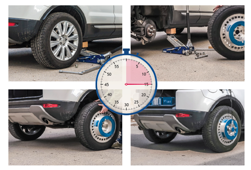 imc Wheel Force Transducer 한 시간 만에 테스트 준비 시간 절약