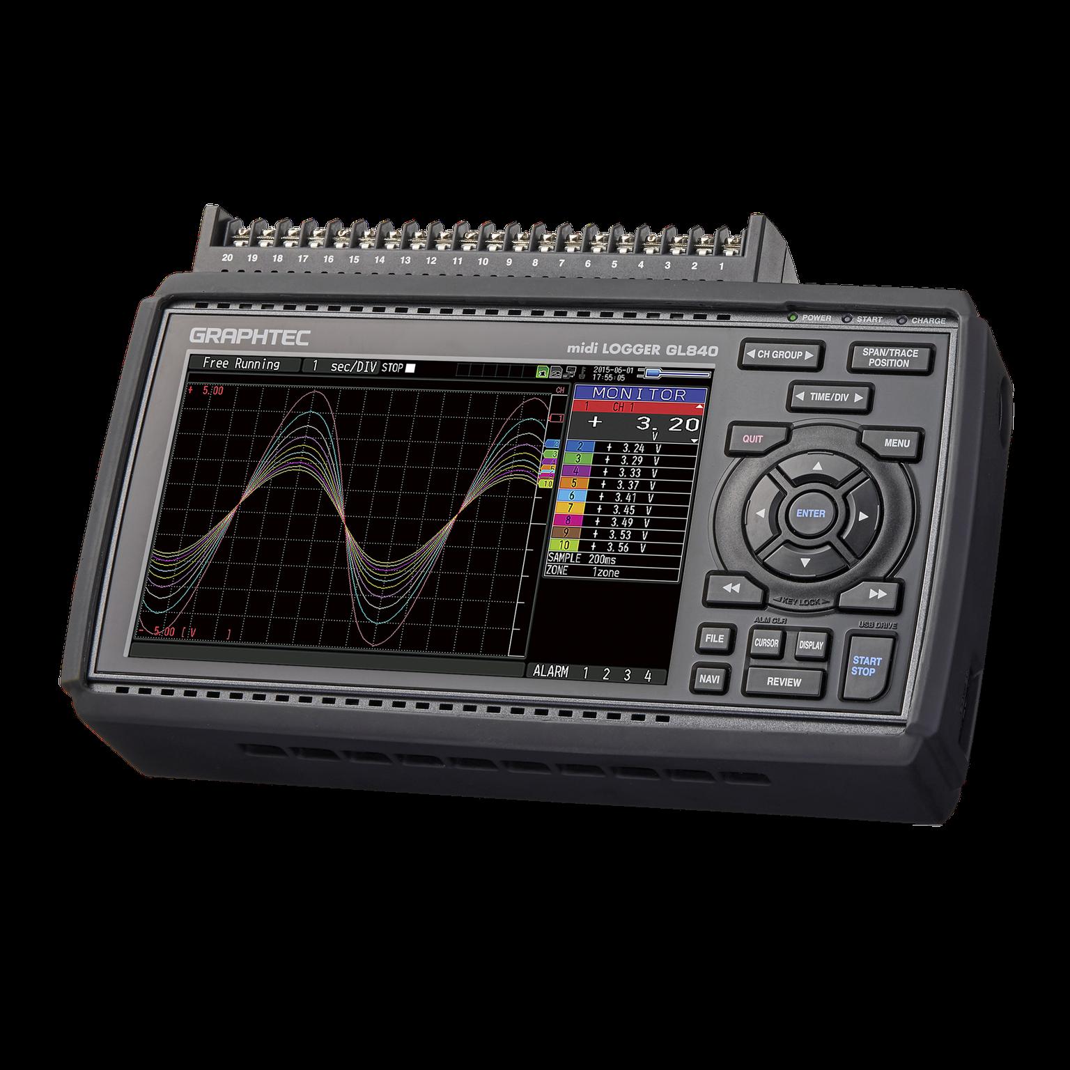 GRAPHTEC GL840 휴대용 데이터 로거