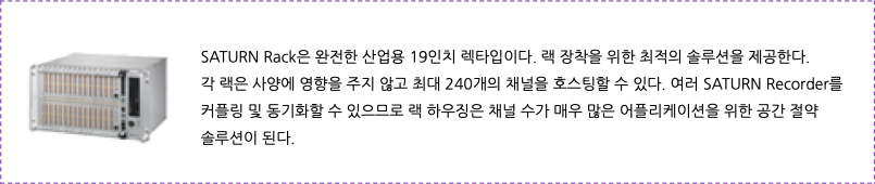 Transient Record Saturn Rack 산업용 DAQ