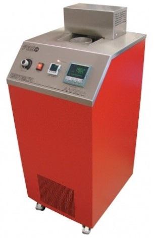 온도 교정 액체 욕조는 체온계의 체적을 포함하는 체임버에서 액체가 가열/냉각되는 물리적 분리 특징
