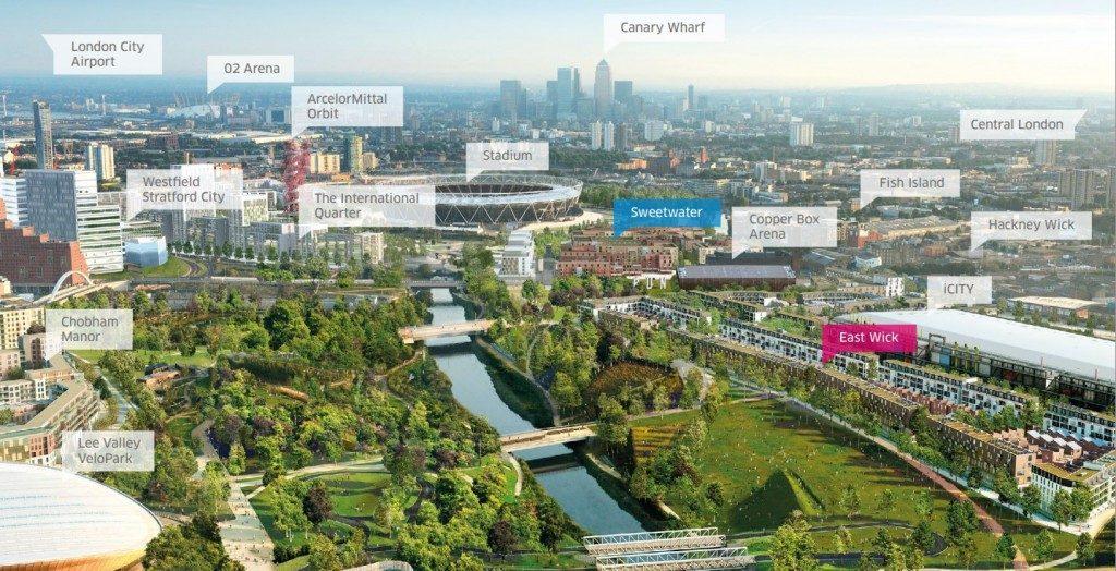 [그림] 퀸 엘리자베스 올림픽 공원 프로젝트 지형도