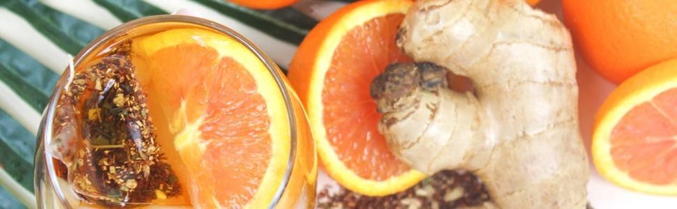 blood orange ginger nausea morning sickness tea