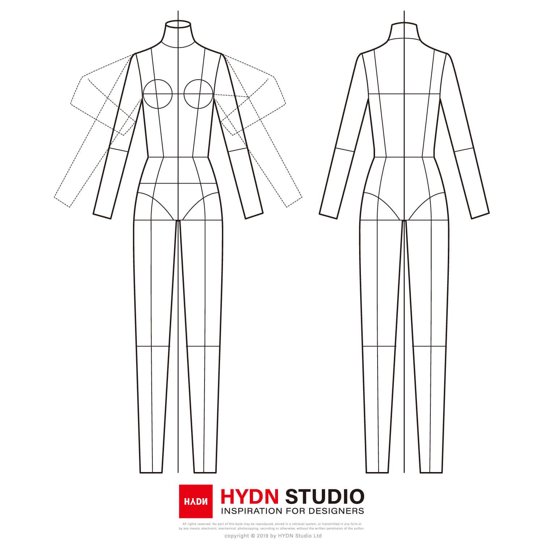 Free Vector Fashion Figure Templates Fashion Flats Fashion Illustration Fashion Template Hydnstudio Fashion Design