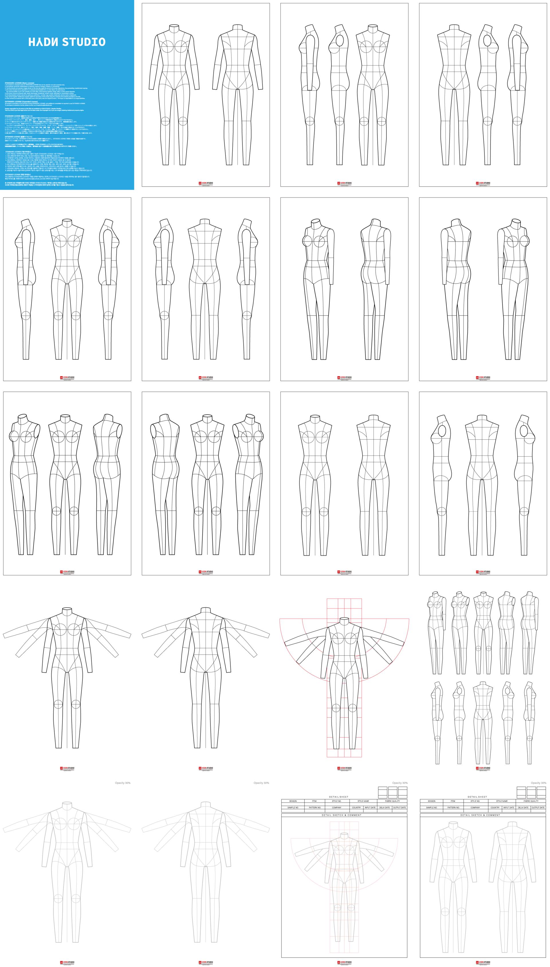 Fashion Flats Body Templates Women For Fashion Illustration Fashion Flats Fashion Illustration Fashion Template Hydnstudio Fashion Design