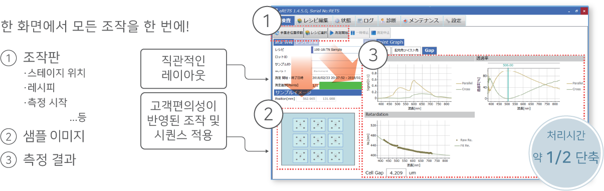 RETS-100nx 소프트웨어 화면