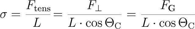 Wilhelmy equation