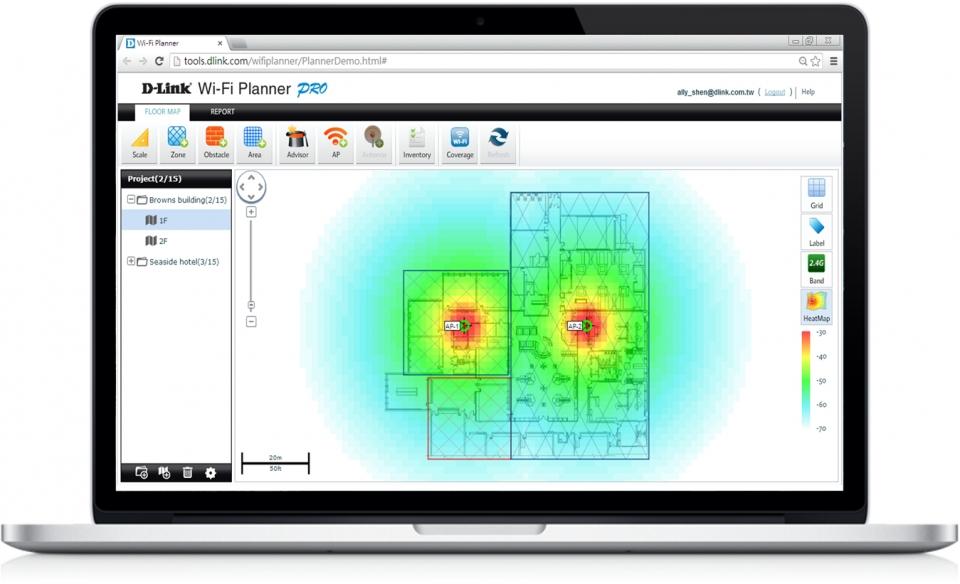 디링크 무선AP를 사용하면 무선 네트워크 설계 솔루션으로 최적의 네트워크를 만들 수 있다.