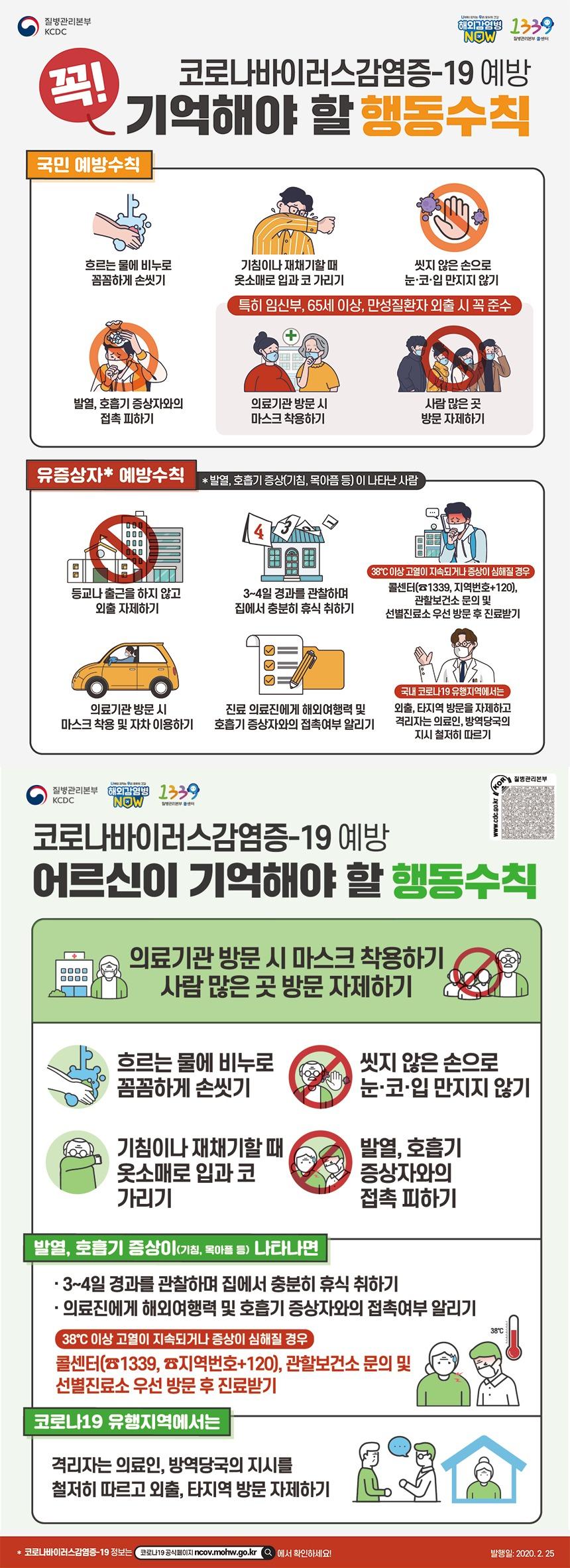 국민 행동수칙 포스터