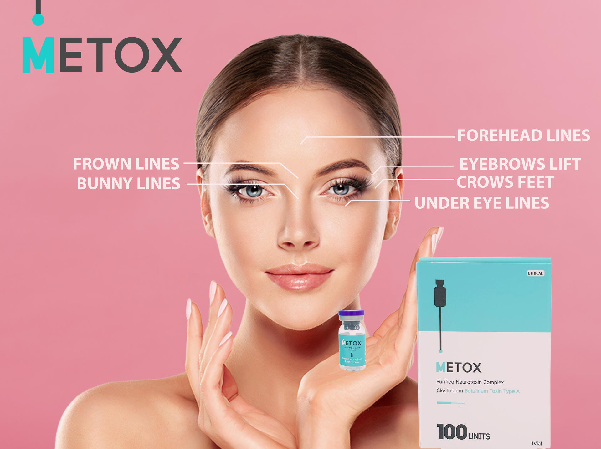 Metox Purified Toxin Type A Maypharm toxin 100 units injections wrinkle #maypharmtox  #botoxface Me too Filler botox fillers botox face botox lips forehead fillers botox forehead