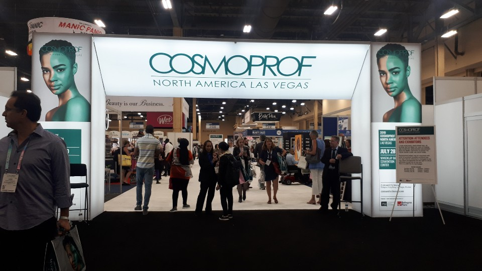 Exhibition hall of COSMOPROF 2019