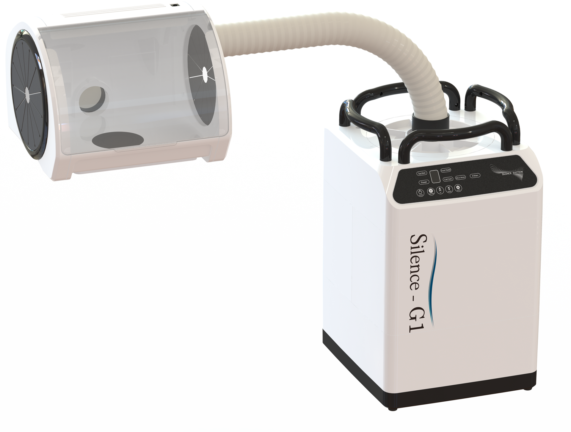 KO-MAX_Silence-A100_extraoral vacuum suction_Aerosol suction_dental dust collector_dermatology laser inhaler_dust collector_UVC LED sterilization_plasma sterilizer