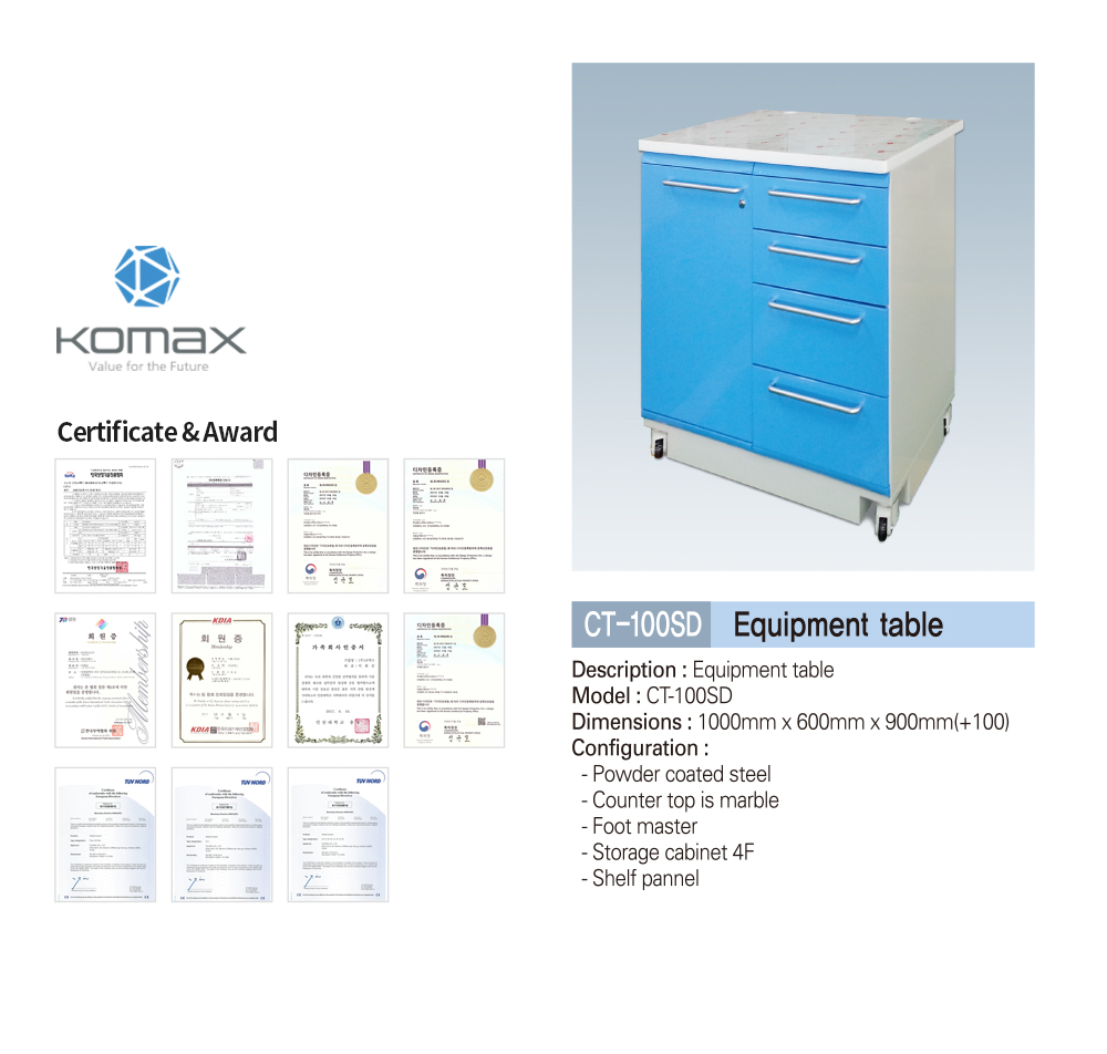 Dental equipment cabinet/table Korea
