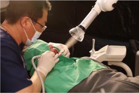 Application of Free-100 mini Dental Extraoral Suction System