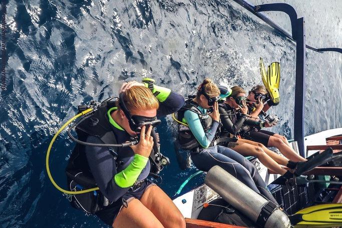 scuba diving Gili T