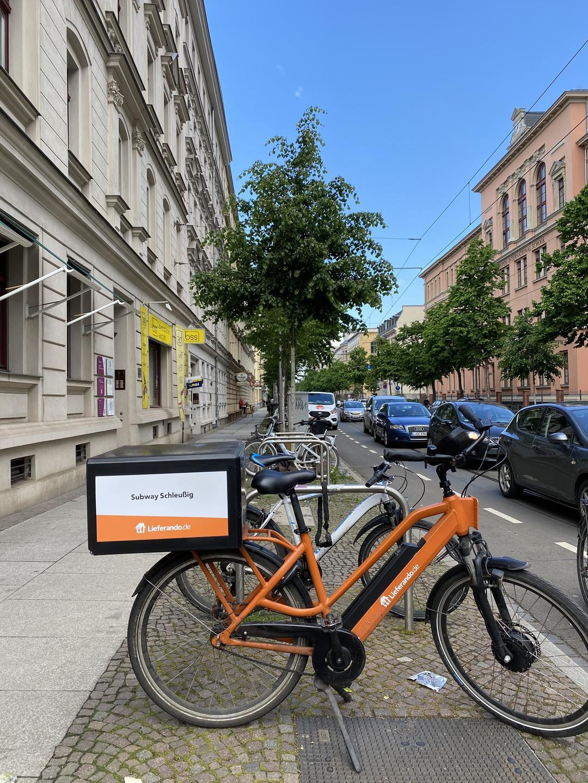 독일의 대표 배달업체인 리퍼란도의 배달 자전거