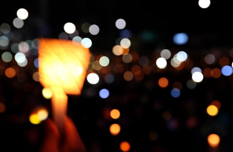 촛불집회 사진